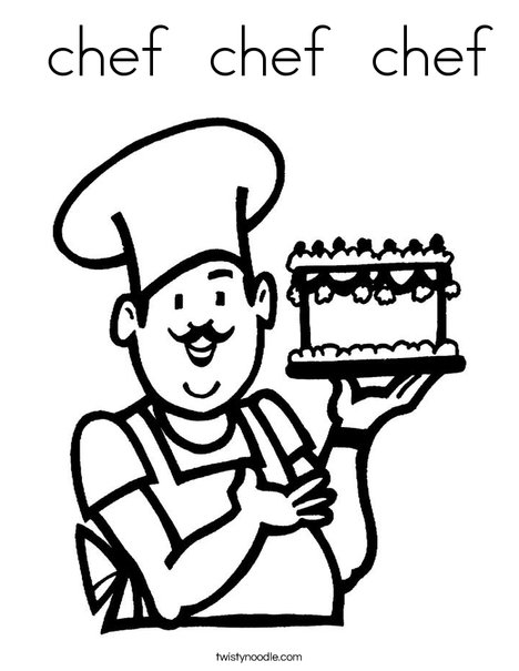 chef coloring pages chef chef chef Coloring Page   Twisty Noodle chef coloring pages