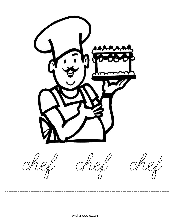 chef  chef  chef Worksheet
