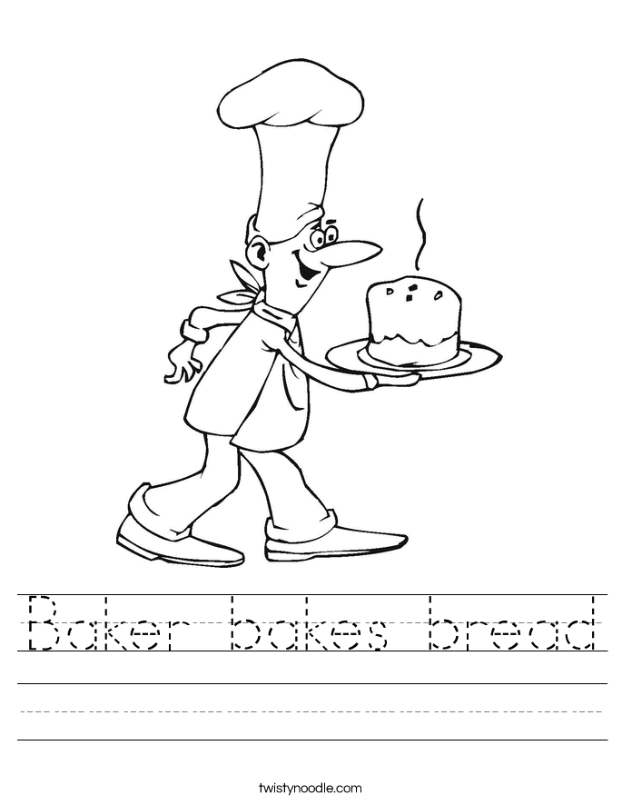 Baker bakes bread Worksheet