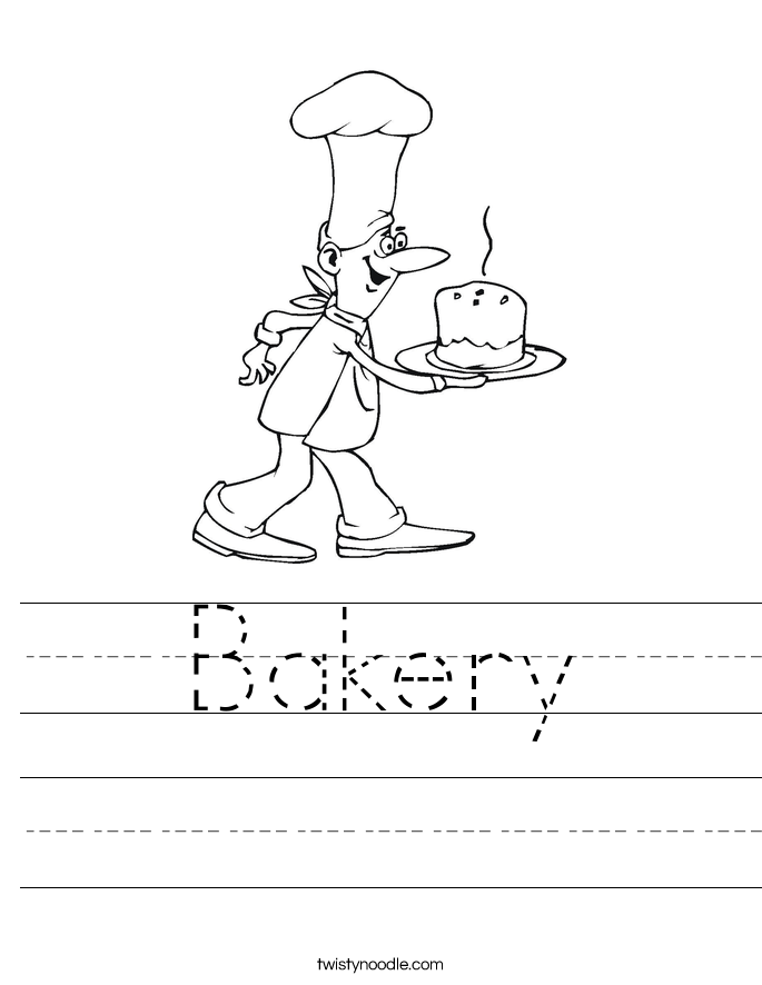 Bakery Worksheet