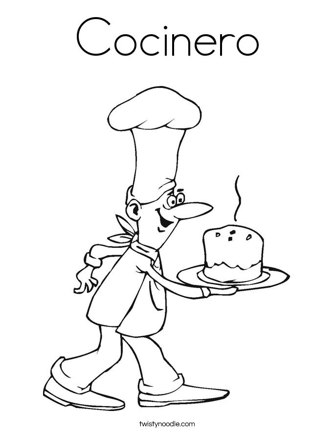 Cocinero Coloring Page