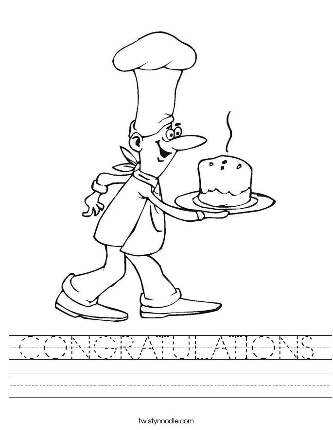 CONGRATULATIONS Worksheet