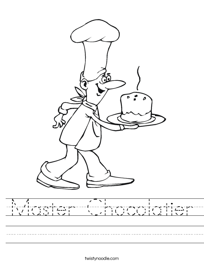 Master Chocolatier Worksheet