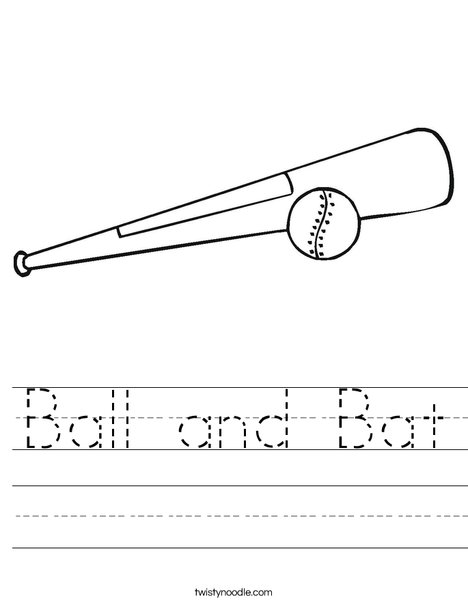 Ball and Bat Worksheet