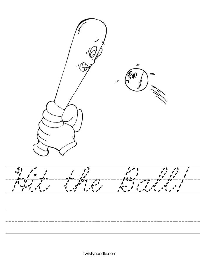 Hit the Ball! Worksheet