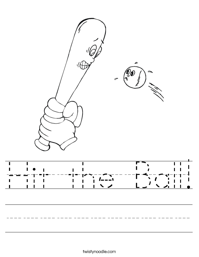 Hit the Ball! Worksheet