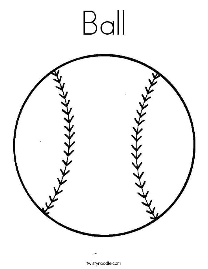 ball coloring pages - photo#9