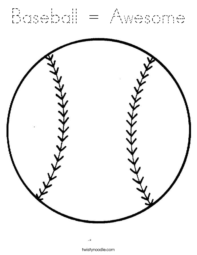 Baseball = Awesome Coloring Page