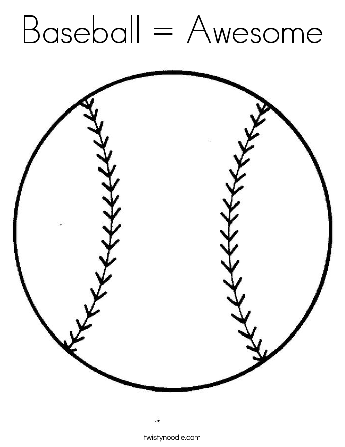 Baseball = Awesome Coloring Page - Twisty Noodle