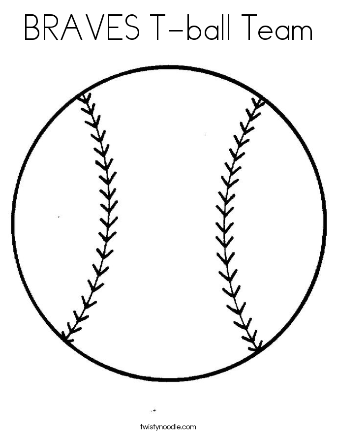 BRAVES T-ball Team Coloring Page