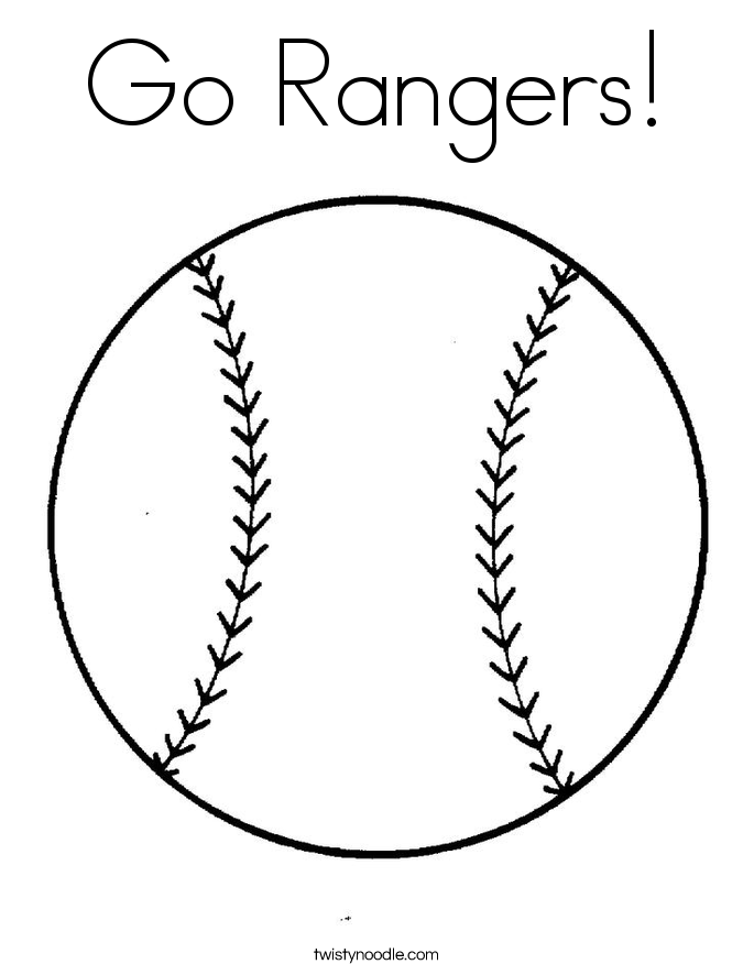 Go Rangers! Coloring Page