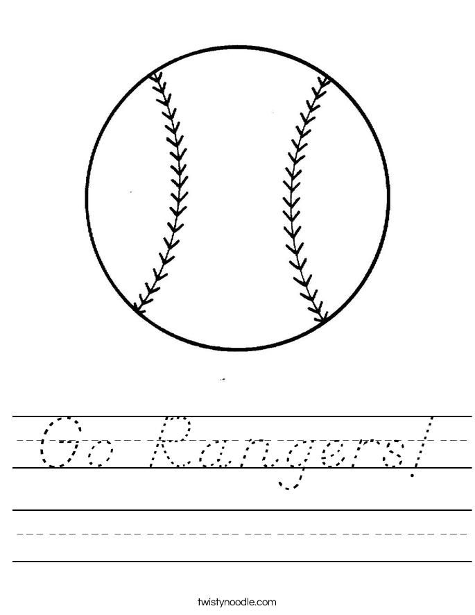 Go Rangers! Worksheet