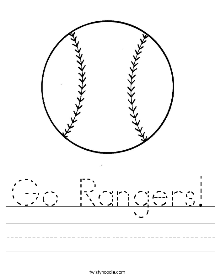 Go Rangers! Worksheet