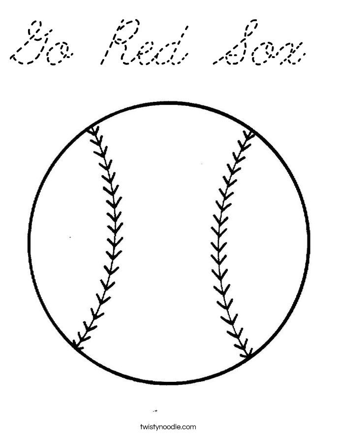 The boston red sox free coloring pages for Red sox coloring pages free