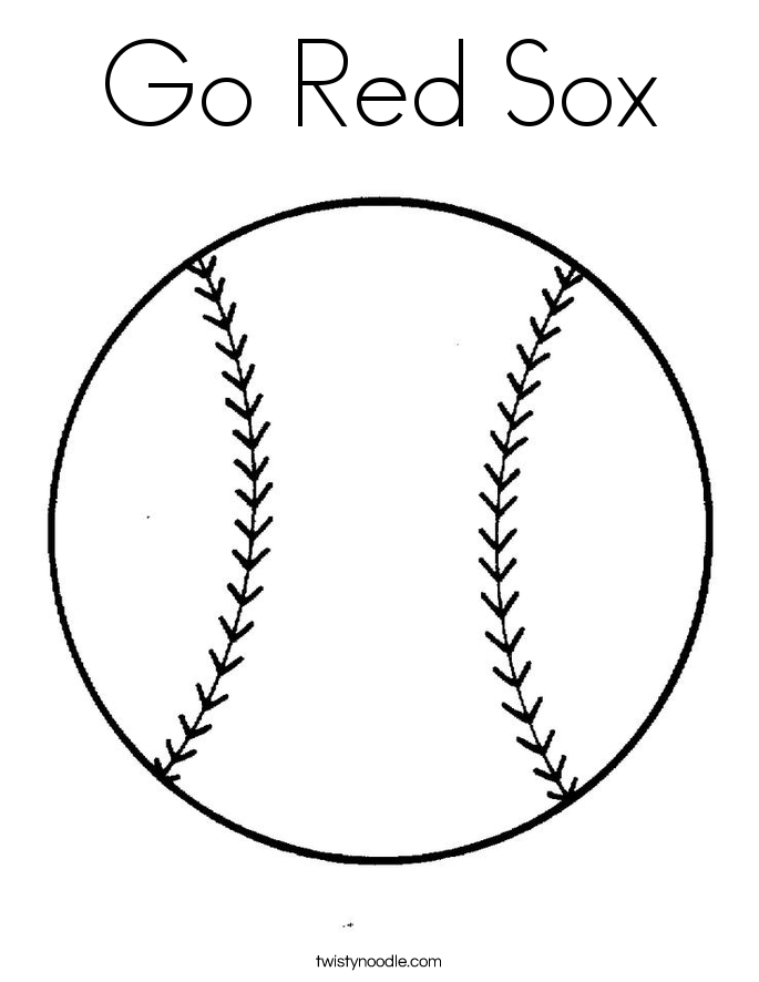 Go Red Sox Coloring Page