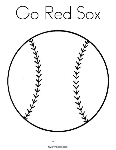 Go Red Sox Coloring Page Twisty Noodle