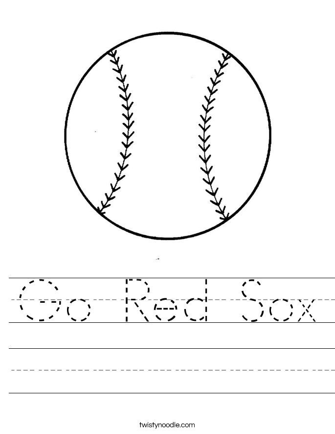 Go Red Sox Worksheet
