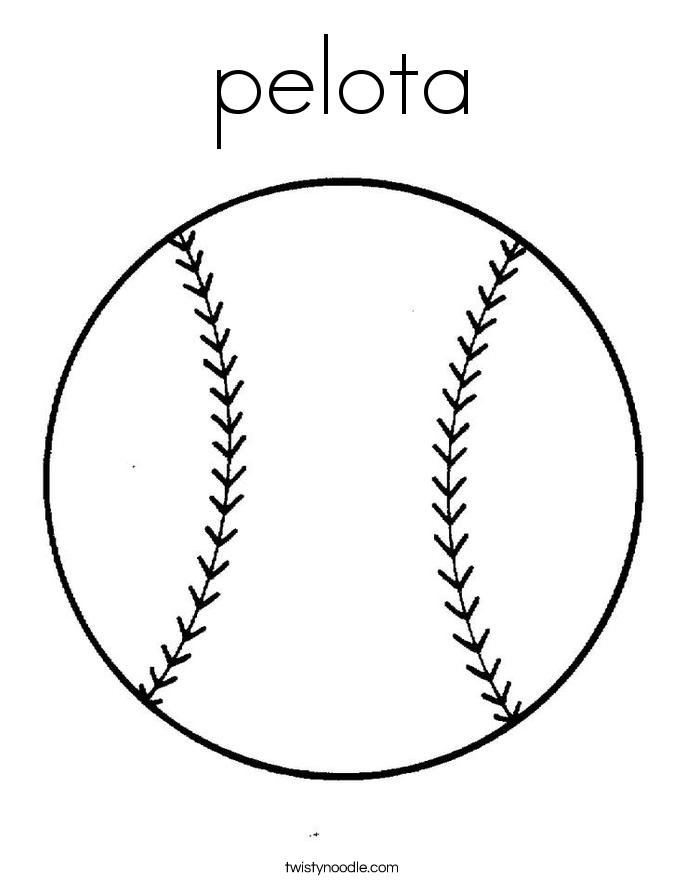 pelota Coloring Page