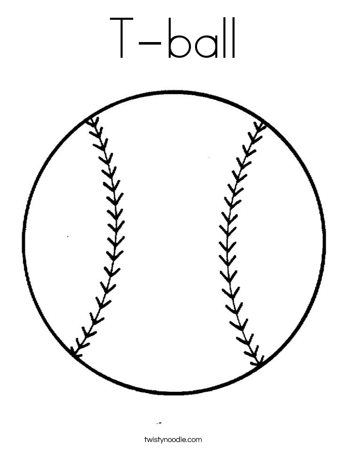 T-ball Coloring Page