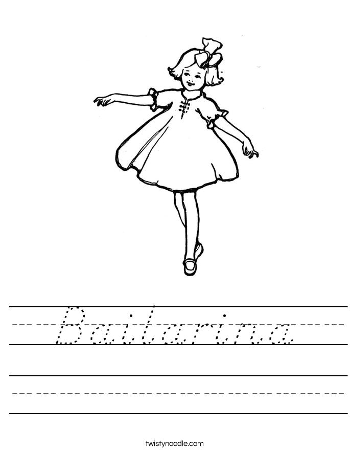 Bailarina Worksheet