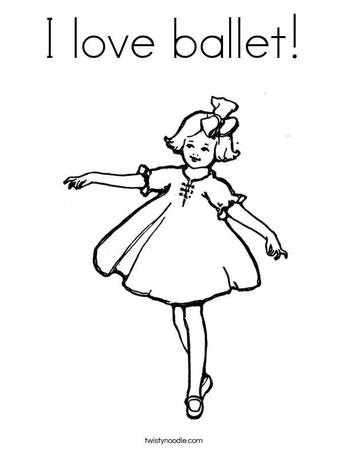 I love ballet! Coloring Page