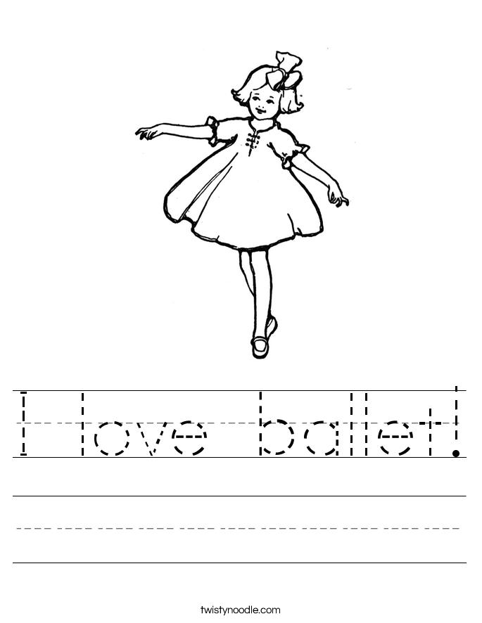 I love ballet! Worksheet