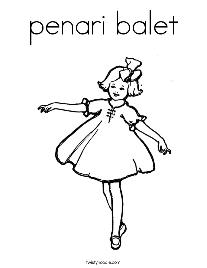 penari balet Coloring Page
