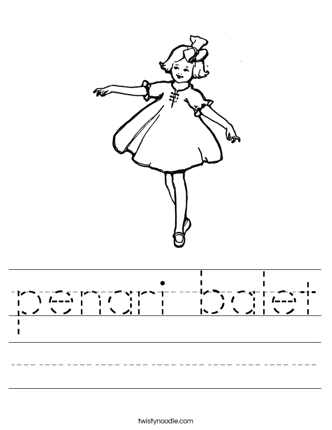 penari balet Worksheet