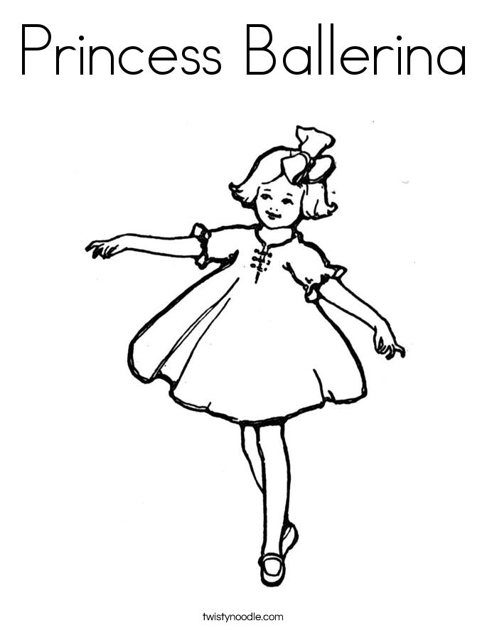 Princess Ballerina Coloring Page.