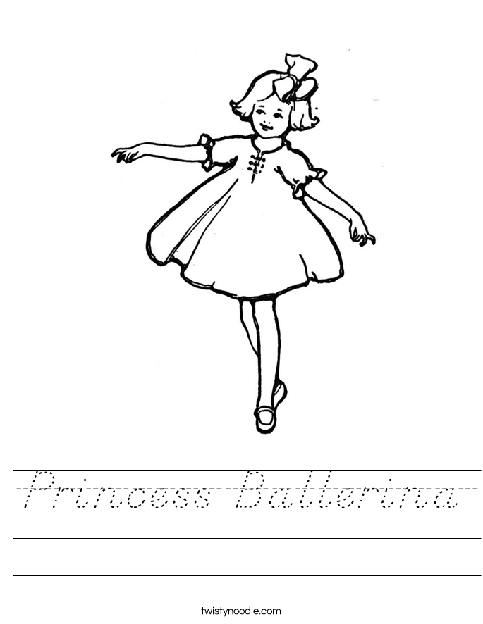Princess Ballerina Worksheet
