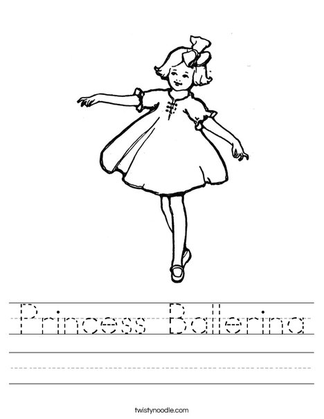 Ballerina Worksheet
