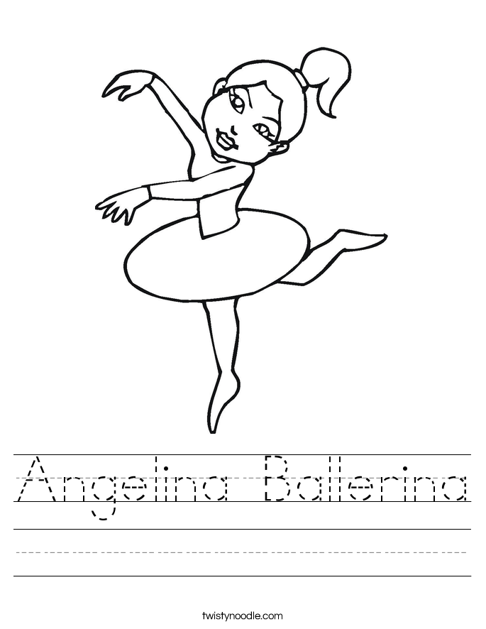 Angelina Ballerina Worksheet