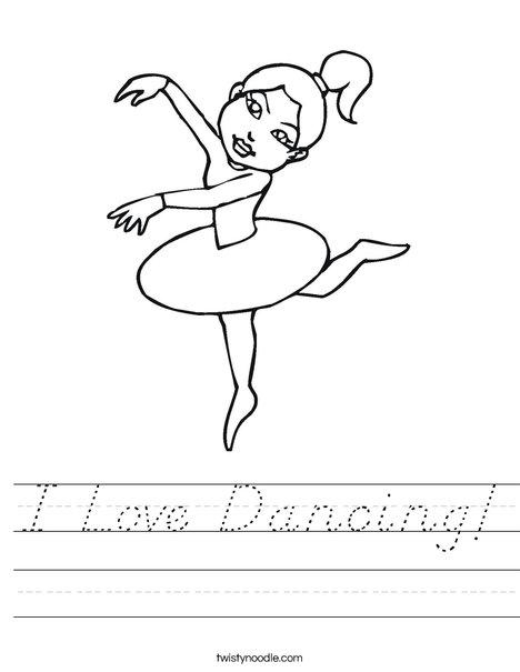 Ballerina with Ponytail Worksheet