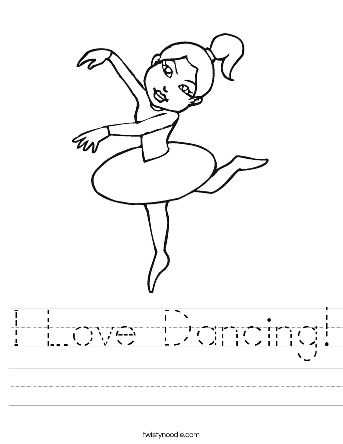 I Love Dancing! Worksheet