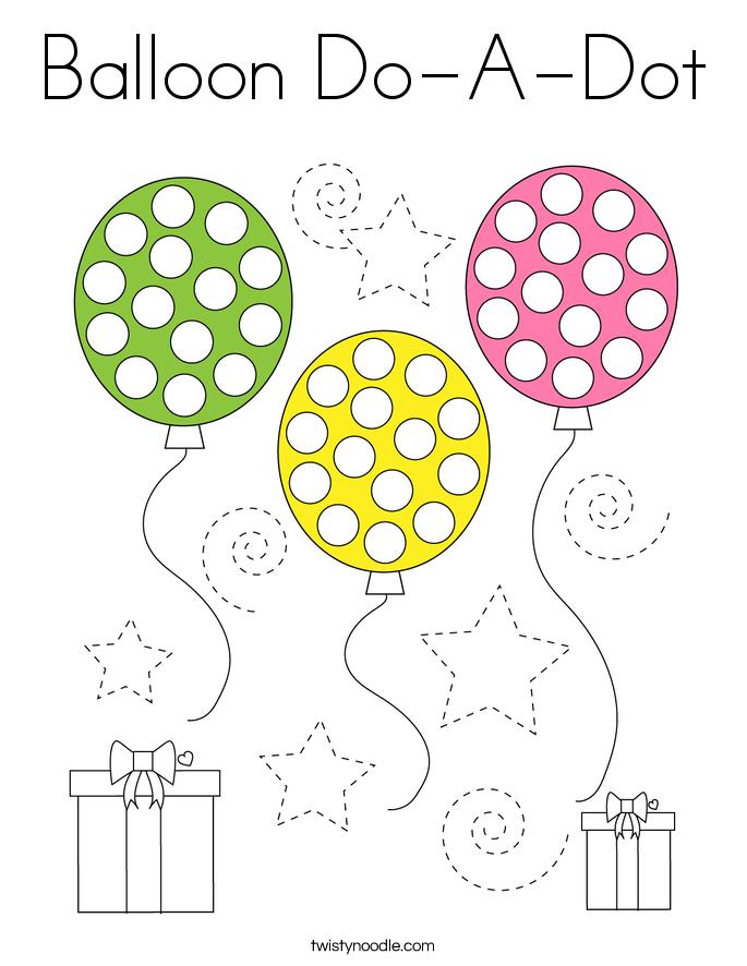 Balloon Do-A-Dot Coloring Page