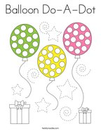 Balloon Do-A-Dot Coloring Page