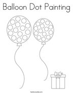 Balloon Dot Painting Coloring Page