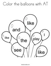Color the balloons with AT Coloring Page