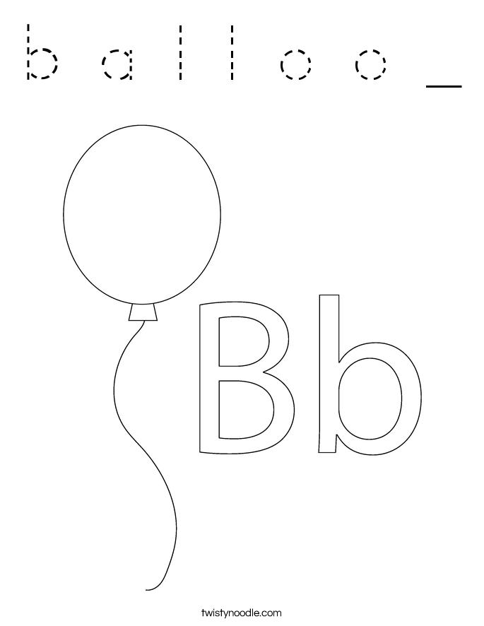 b a l l o o _ Coloring Page
