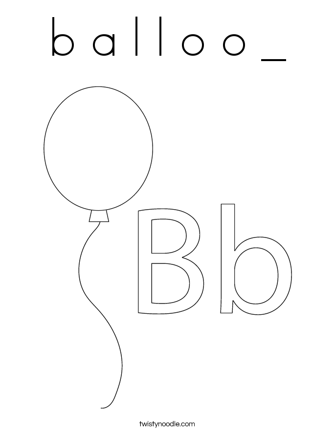 B A L O Coloring Page