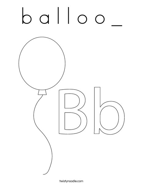 Balloon Coloring Page