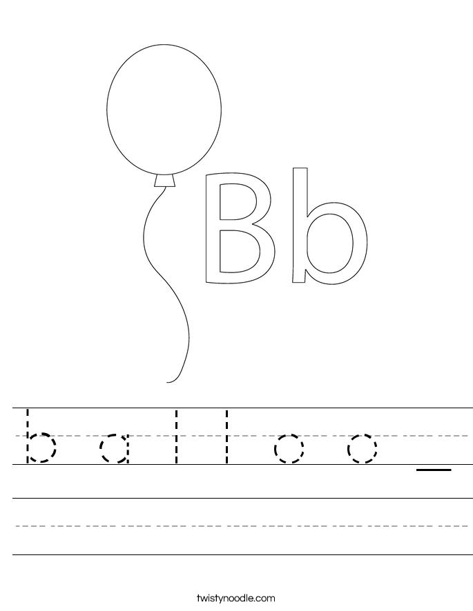 b a l l o o _ Worksheet