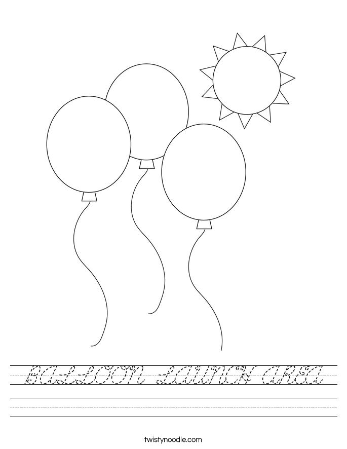 BALLOON LAUNCH AREA Worksheet