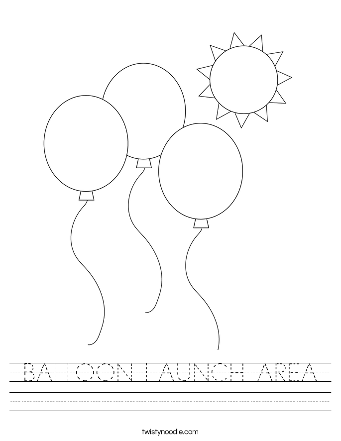 BALLOON LAUNCH AREA Worksheet