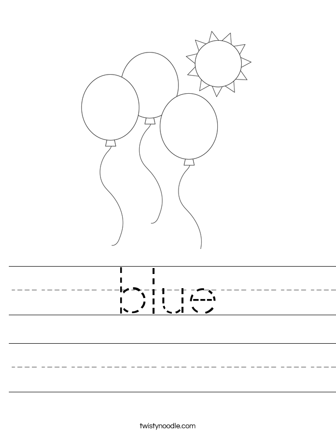 blue Worksheet