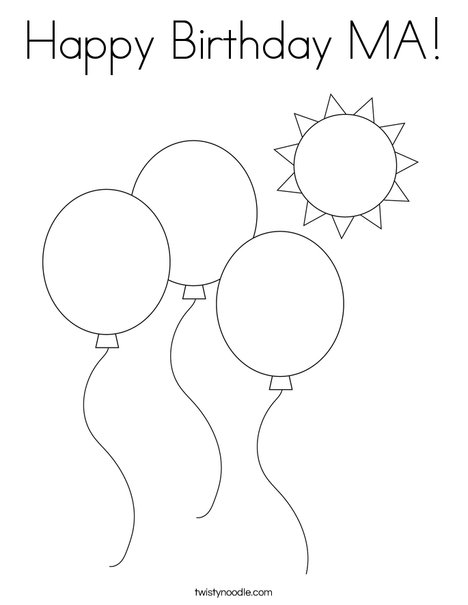 Balloons Coloring Page