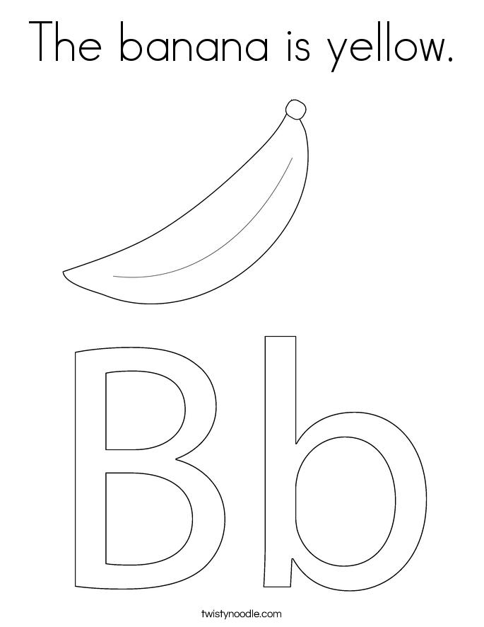 Free Banana Tree Leaf Coloring Pages Banana Tree Coloring Page