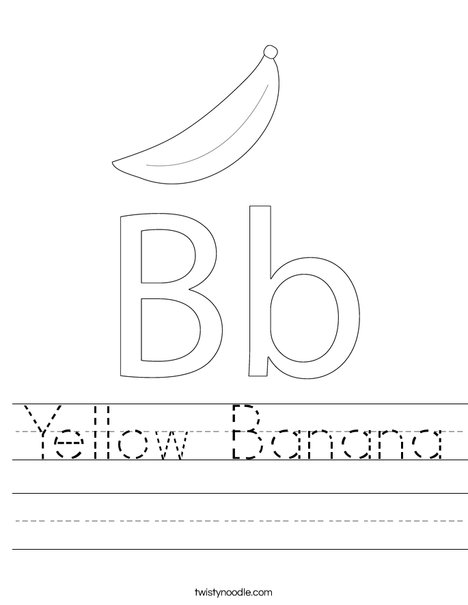 Banana Worksheet