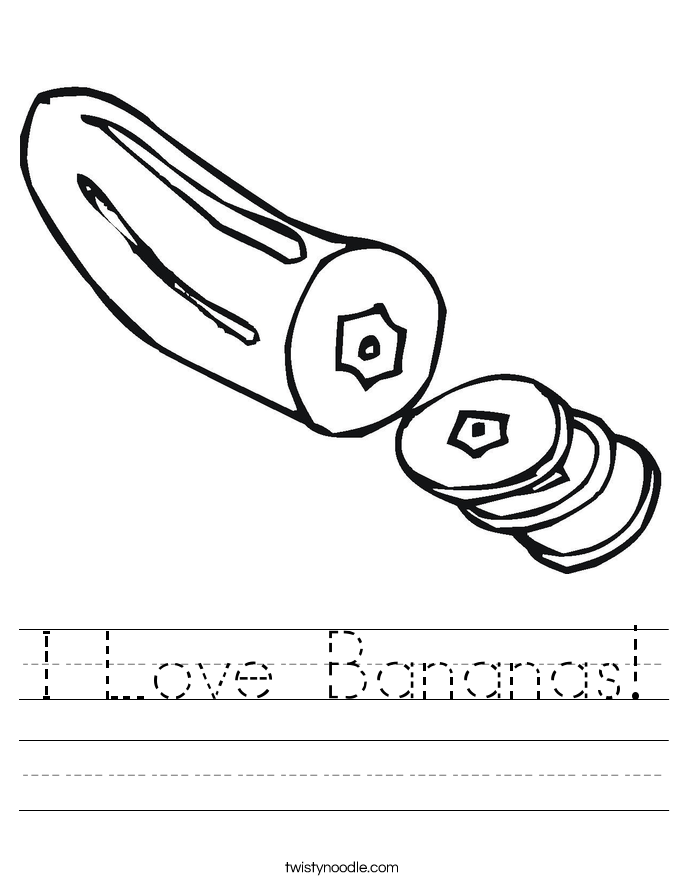 I Love Bananas! Worksheet