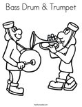 Bass Drum & Trumpet Coloring Page